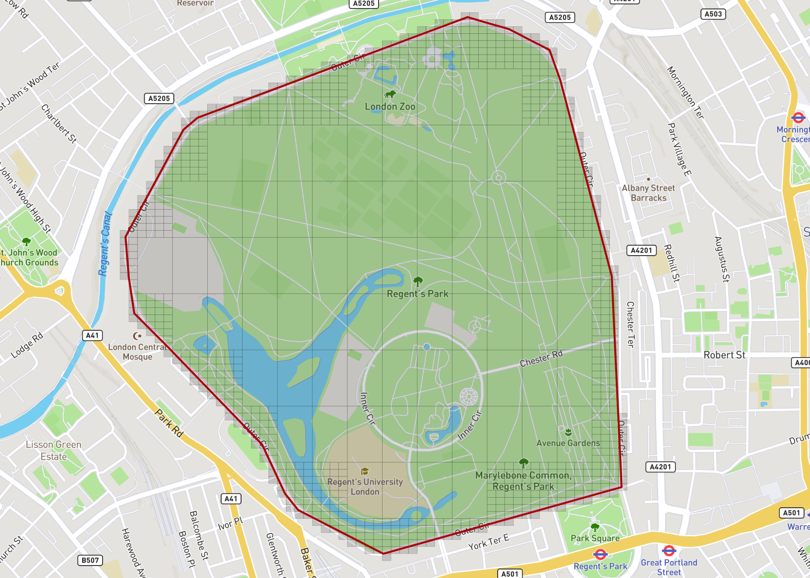Filling a Geofence with Geohashes